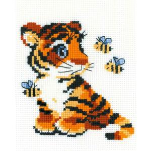 "Riolis Stickbildset Kreuzstich ""Tiger"",..."