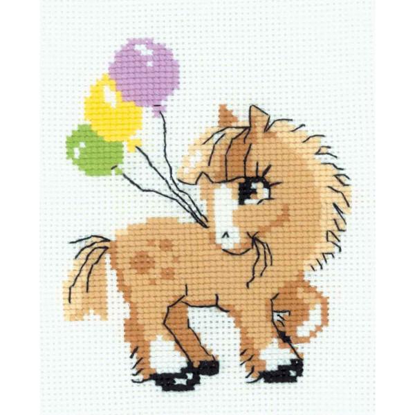 "Riolis Stickbildset Kreuzstich ""Pony"", Zählmuster"