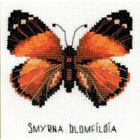 Riolis Happy Bee Kreuzstich-Set, Zählvorlage Schmetterling (Nymphalidae), mehrfarbig, Zählmuster