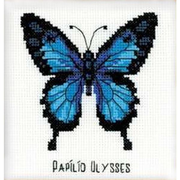 """Riolis Stickbildset Kreuzstich """"Odysseus Schmetterling"""", Zählmuster"""