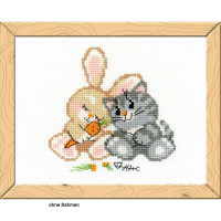 Riolis counted cross stitch Kit Peace, Love, and Carrot, DIY