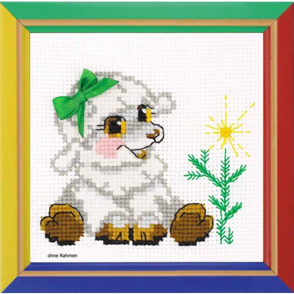 Riolis counted cross stitch Kit Little Lamb, DIY
