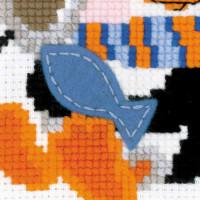 Riolis counted cross stitch Kit Penguin, DIY