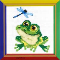 """Riolis Kreuzstich-Set """"Kleiner Frosch"""", Zählmuster"""