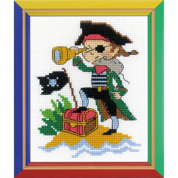 """Riolis Stickset Kreuzstich """"Brave Pirate"""", Zählmuster"""
