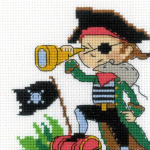 "Riolis Stickset Kreuzstich ""Brave Pirate"",..."