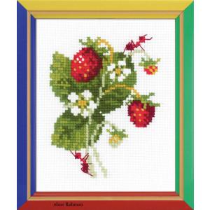 """Riolis Kreuzstich-Set """"Erdbeere"""", Zählmuster"""