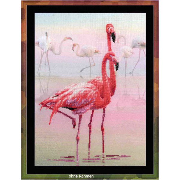 "Riolis Kreuzstich-Set ""Flamingo"", Zählmuster"