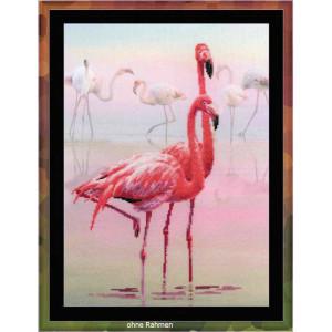 Riolis counted cross stitch Kit Flamingo, DIY