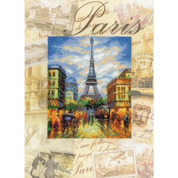 Riolis Stickpackung Paris, gezählter Kreuzstich, Zählmuster