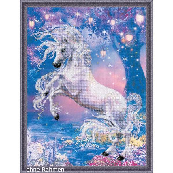 Blue Unicorn Counted Cross Stitch kit