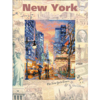 Riolis counted cross stitch Kit Cities of the World. New York, DIY