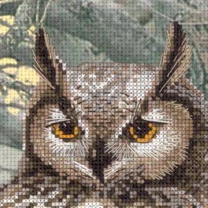 Riolis counted cross stitch Kit Eagle Owl, DIY