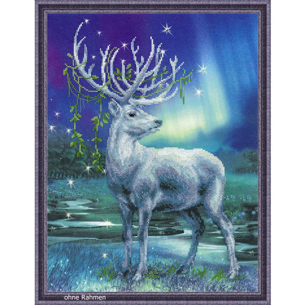 Riolis counted cross stitch Kit White Stag, DIY