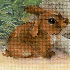 Riolis counted cross stitch Kit Lamb and Rabbit, DIY