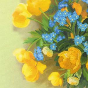 Riolis Satin-Stitch Kit Globe Flowers. Satin Stitch,...