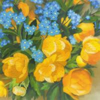 Riolis Satin-Stitch Kit Globe Flowers. Satin Stitch, stamped, DIY
