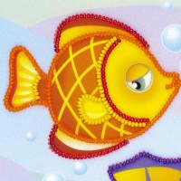 Riolis counted cross stitch Kit Sea Fish, DIY