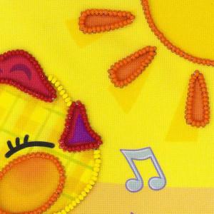 Riolis stamped beads stitch Kit Good Morning!, DIY