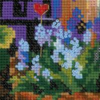 Riolis counted cross stitch Kit Windowsill with Flowers, DIY