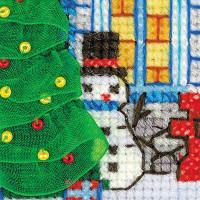 Riolis counted cross stitch Kit Ice Cabin, DIY