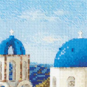 Riolis counted cross stitch Kit Santorini, DIY