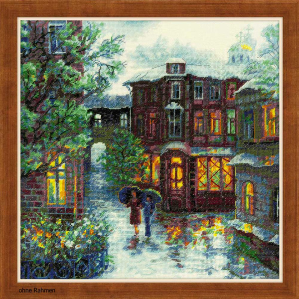 Counted Cross Stitch Kit Riolis-Night CAFE