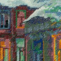 Riolis counted cross stitch Kit Rainy Summer, DIY