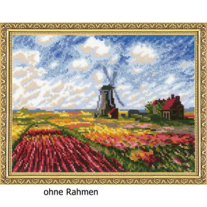 Riolis counted cross stitch Kit Tulip Fields after C....