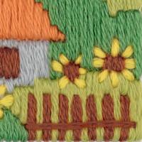 "Riolis Kreuzstich-Set ""Garten"", Zählmuster"