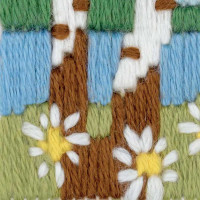 Riolis counted cross stitch Kit Forest Lake, DIY