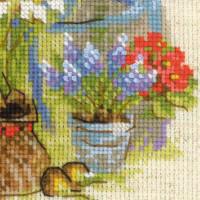 Riolis counted cross stitch Kit Cottage Garden. Spring, DIY