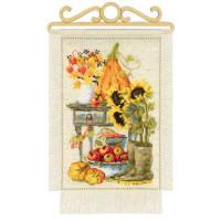 Riolis counted cross stitch Kit Cottage Garden. Autumn, DIY