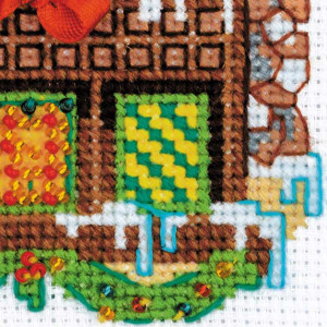 Riolis counted cross stitch Kit Cabin with a Bell, DIY