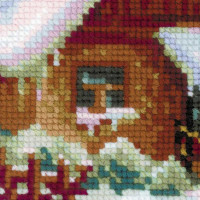 Riolis counted cross stitch Kit Serbian Village, DIY