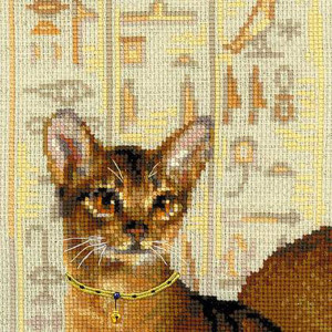 Riolis counted cross stitch Kit Abyssinian Cats, DIY