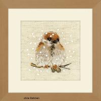 Riolis counted cross stitch Kit Sparrow, DIY