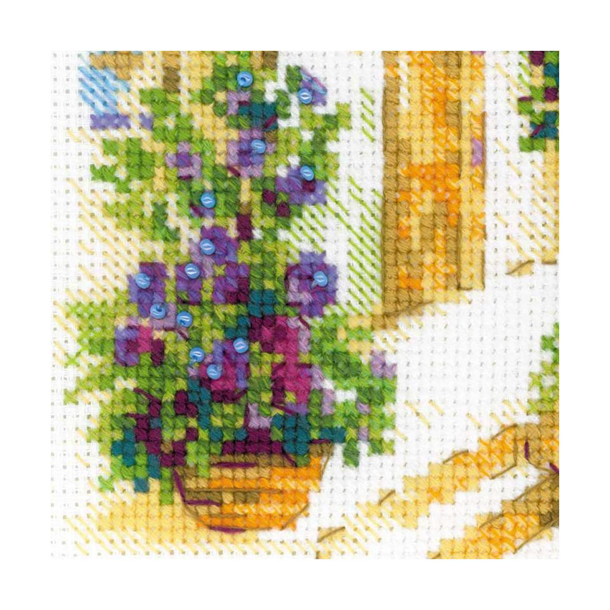 "Zählmuster Riolis Kreuzstich-Set /""Blühende Provence/"""