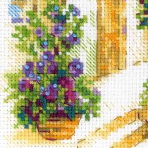 Riolis counted cross stitch Kit Provence Street, DIY