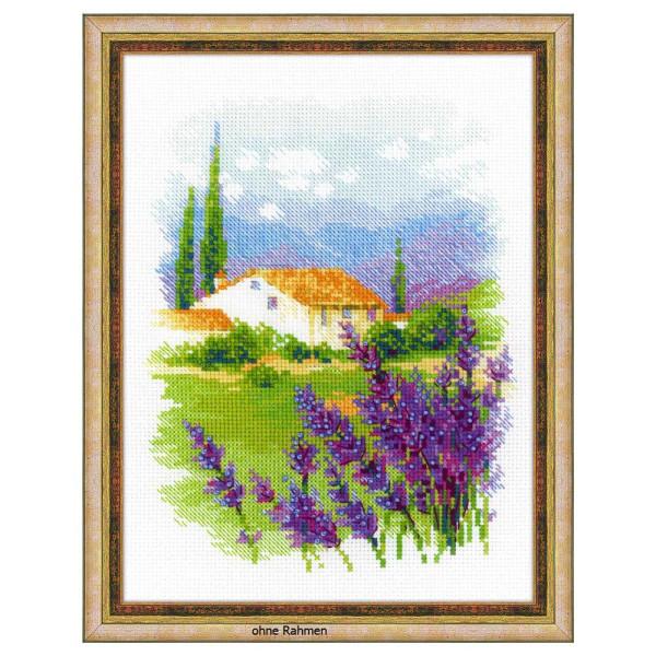 """Riolis Kreuzstich-Set """"Bauernhof in der Provence"""", Zählmuster"""