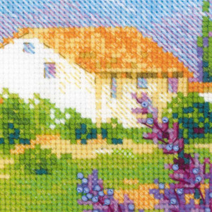 Riolis counted cross stitch Kit Farm in Provence, DIY