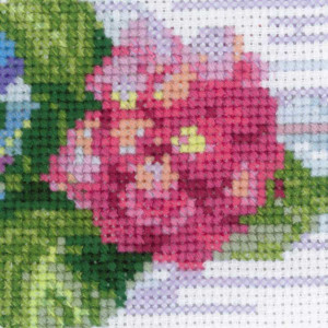 Riolis counted cross stitch Kit Hydrangea, DIY