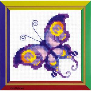 "Riolis Kreuzstich-Set ""Amethyst Schmetterling"",..."