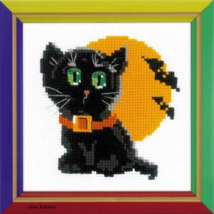 Riolis counted cross stitch Kit Black Cat, DIY