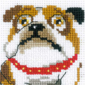 "Riolis Kreuzstich-Set ""Englische Bulldogge "",..."