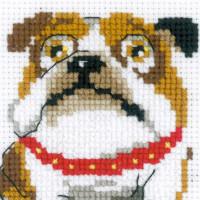 "Riolis Kreuzstich-Set ""Englische Bulldogge "", Zählmuster"
