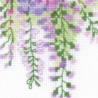 Riolis counted cross stitch Kit Wisteria, DIY