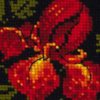 Riolis counted cross stitch Kit Cosmetic bag Irises, DIY