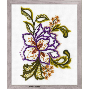 Riolis Stitch Kit Flower Sketch, stamped, DIY