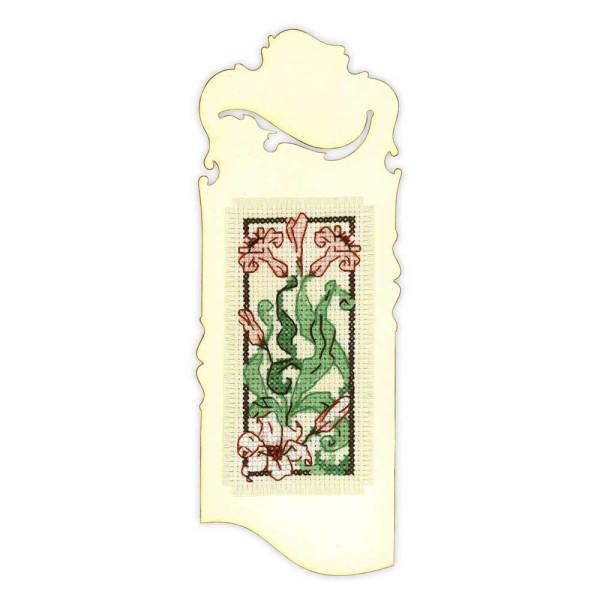 Riolis Kreuzstich-Set Lesezeichen Graceful Lily, Zählmuster